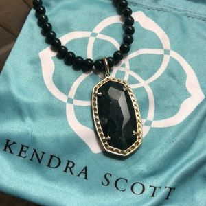 Kendra Scott Marlow necklace in green jasper